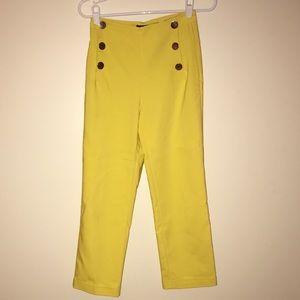 ZARA high waisted yellow pants